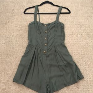 Army green romper from Hollister